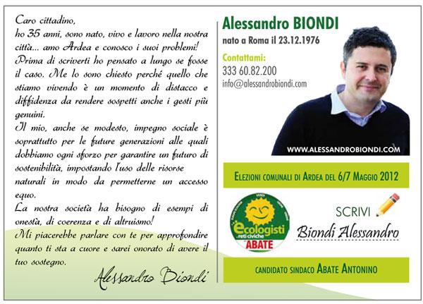 Curriculum Alessandro Biondi
